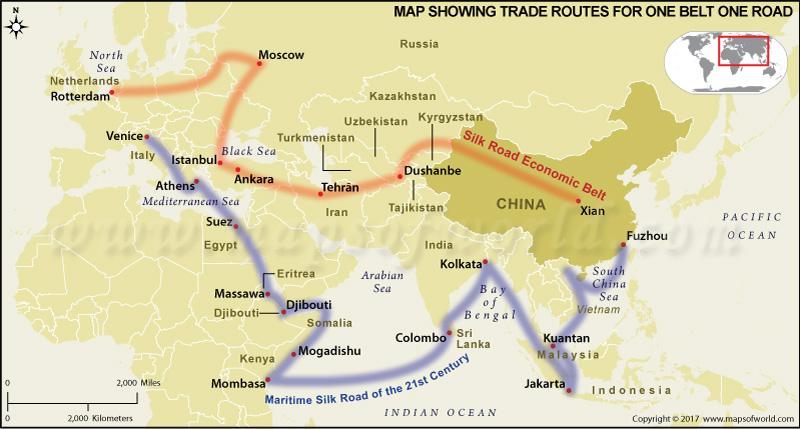 Economic Belt Map