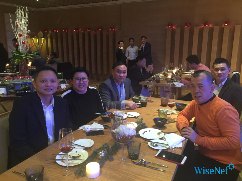 Dinner CG group with Karen sitting